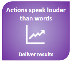 Actions are louder