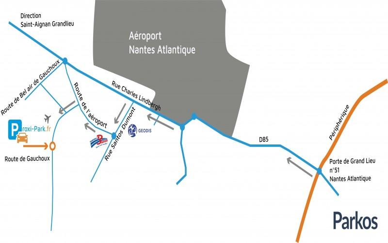 parking Aéroport Nantes fournisseur paquets