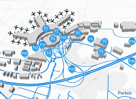 Lageplan Parken Flughafen Düsseldorf