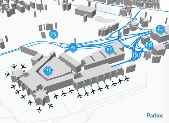 Lageplan Parken Flughafen Köln