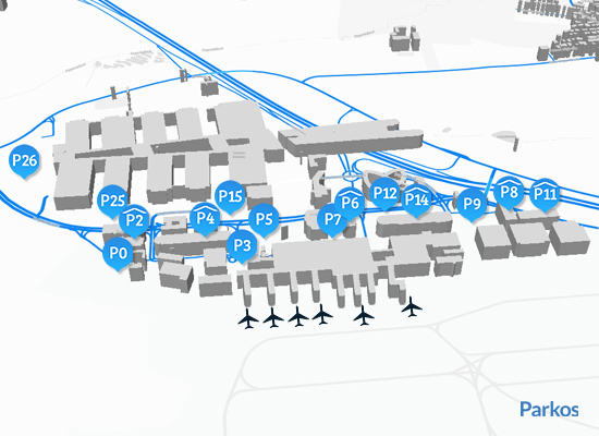 Map Stuttgart Airport Parking