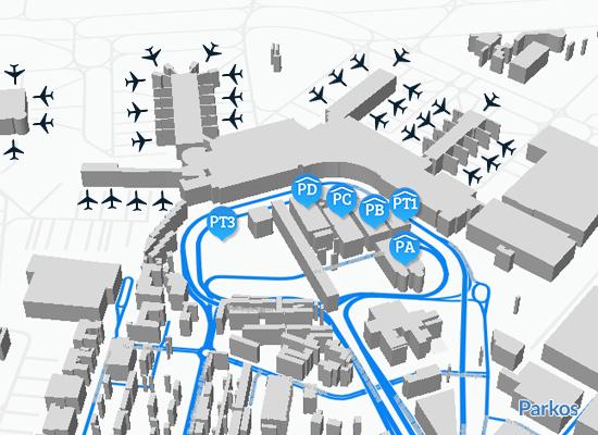 mappa parcheggio Fiumicino