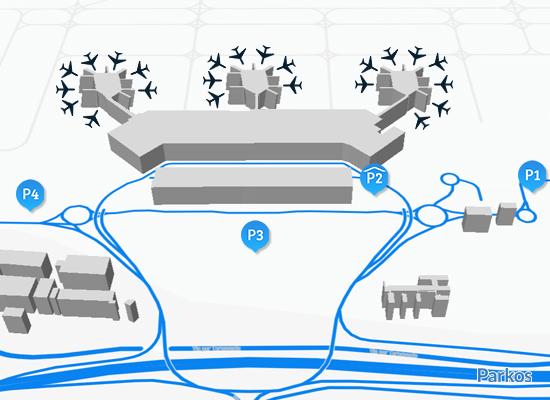 mappa parcheggio Malpensa T1