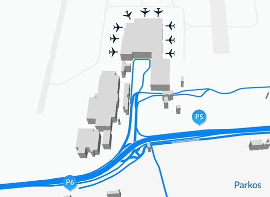 mappa parcheggio Malpensa T2