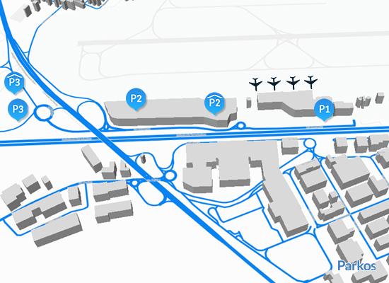mappa parcheggio Orio al Serio