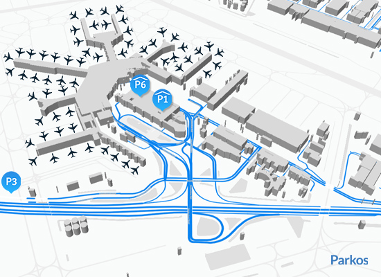 plattegrond parkeren Schiphol